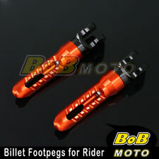 For Ducati 959 Panigale 16 ORANGE BoB CNC Front Foot pegs