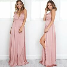 New Women Summer Bandage Maxi Long Dress Backless Bodycon Silk Dress Gown Party