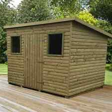 Heavy Duty Tanalised garden shed Pent Top Quality 15 year guarnatee** Log lap