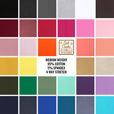 Premium Cotton Lycra Knit Fabrics (Various Colours available), 4 way stretch