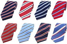 RAF Roundels Red White And Blue Striped Silk Ties