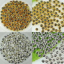 wholesale 2mm/2.4mm/3.2mm/4mm/5mm/6mm Silver/gold plt Metal Round Spacer beads
