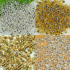 Finding 1.5mm/2mm/2.5mm Silver/Gold Plt Copper Crimp End beads Accessories