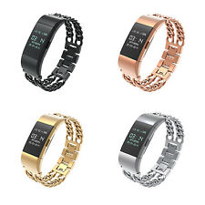 Fitbit Charge 2 Band Metal Watch Wearlizer Wristband Replacement Strap Bracelet