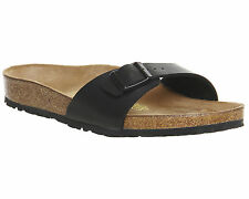 Womens Birkenstock Madrid 1 Bar Mules BLACK BIRKO Sandals