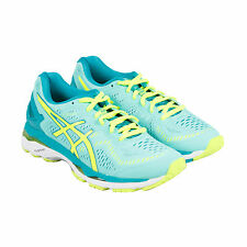 Asics Gel-Kayano 23 Womens Green Mesh Athletic Lace Up Running Shoes