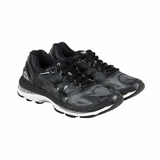 Asics Gel-Nimbus 19 Womens Black Silver Mesh Athletic Lace Up Running Shoes