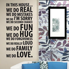 Family Love Hope in this houseWall Quotes Wall Stickers Wall Decals Wall Murals