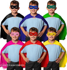 CHILD SUPERHERO CAPE AND MASK 75CM HALLOWEEN FANCY DRESS BOOK CHARACTER COSTUME