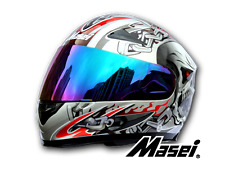 Masei 816 Silver Skull Motorcycle Helmet Dirt Bike Bicycle ATV Racing Arai Shoei