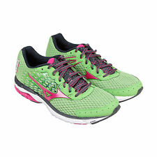 Mizuno Wave Inspire 11 Womens Green Mesh Athletic Lace Up Running Shoes