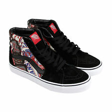 Vans Sk8 Hi Mens Black Canvas Lace Up Sneakers Shoes