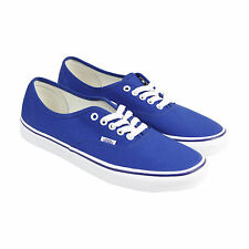 Vans Authentic Mens Blue Canvas Lace Up Lace Up Sneakers Shoes