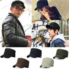 Unisex Men Pretty Unique Style  Plain Vintage Army Military Cadet Cotton Cap Hat