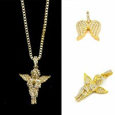 Angel Wings Wedding Crystal Pendant Alloy Chain Little Angel Necklace