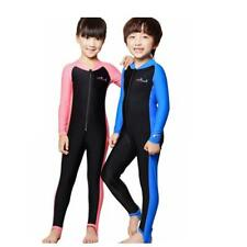 Kids Boys Girls Full Body Anti-UV Swimwear Long Sleeve Swimming Diving Wetsuit