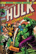 Marvel Comics Retro: The Incredible Hulk Comic Book Cover No.181, with Wolverine