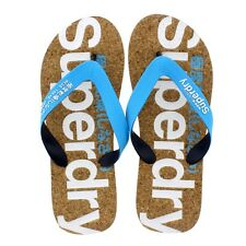 Superdry Cork Colour Pop Flip Flop - Fluro Blue-Optic (Textile) Mens Sandals