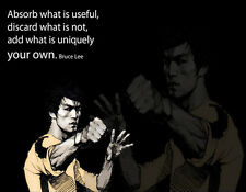 Choose Paper or Canvas POSTER.Bruce Lee martial art.Room art home decor.q0165