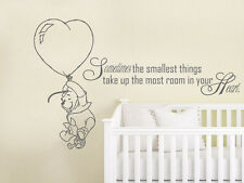 Winnie the Pooh Wall Decal Kids Quote Vinyl Sticker Decal Nursery Decor ZX213