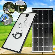 100Watt 12V 100W SOLAR PANEL MONO CABLE FOR  RV HOME CAR BOAT BATTERY CHARGER