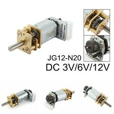 DC 3V/6V/12V 25-1000RPM Mini Speed Reduction Gear Box Motor w Gearwheel Shaft