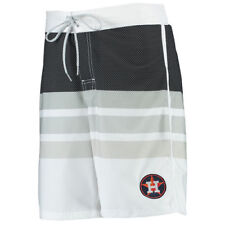 Houston Astros G-III Sports by Carl Banks Centerfield Swim Trunks - White - MLB