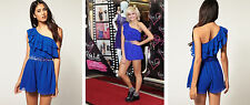 New Lipsy BNWT Blue Embellished Party Evening Mini Short Playsuit DR05460 Dress