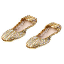 PU Leather Ballet Belly Dance Shoes Dancing Slipper with Split Soft Sole