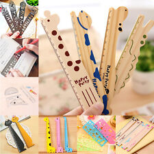 4pc Cute Ruler Wood Animal Straight Ruler Gift Kids Student Supplies Stationery
