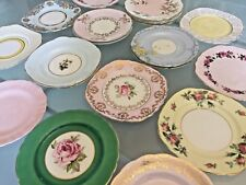 Pastel HARLEQUIN Vintage China TEA / SIDE PLATE Pink Lemon ROYAL ALBERT / TUSCAN