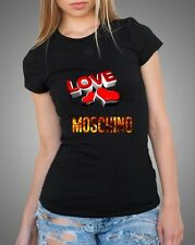 Black Sexy Women T-Shirt Top Tee Moschino Love
