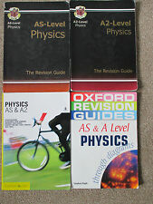 4 REVISION GUIDES PB PHYSICS    AS A A2 LEVEL CGP OXFORD & LONGMAN 2001/03/05/06