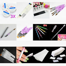 New Nail Art Brush Cuticle Spoon Pusher Nail Wipes Hair Removal Paper Tool