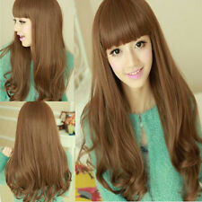 New Sexy Cosplay Party Women Fashion Dance Long Wig Hair Full Wavy Curly Wigs