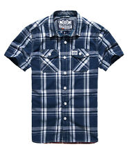 New Mens Superdry Washbasket Short Sleeve Shirt Atlantic Check