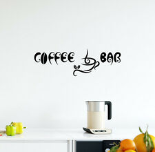 Wall Decal Coffee Cup Vinyl Sticker Decal Home Decor Cafe Kitchen Bar Dorm L520