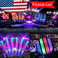 100~400PCS Light-Up Foam Sticks LED Rally Rave Cheer Tube Soft Glow Baton Wands