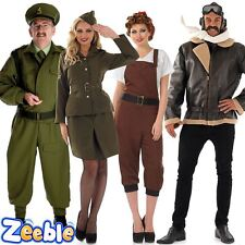 1940s Soldier Fancy Dress Costume Home Guard Dads Army WW2 Soldier