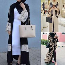 HOT Muslim Womens Long-sleeve Ladies Shirt Arab Islamic Wear Cocktail Maxi Dress