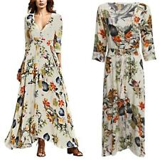 Vintage Womens Long Maxi Dress Evening Party Summer Beach Boho Holiday Dresses