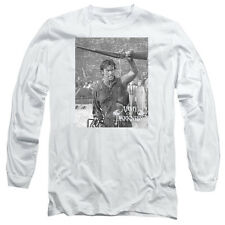 Army Of Darkness Boom Mens Long Sleeve Shirt White