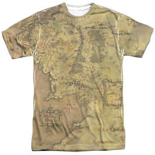 The Lord of the Rings Middle Earth Map (Front Back Print) Mens Shirt