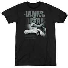 James Dean Immortality Quote Mens Adult Heather Ringer Shirt Black