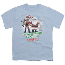 Santa Claus Is Comin To Town Kringle To Claus Big Boys T Shirt Light Blue