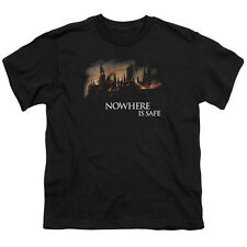 Harry Potter Burning Hogwarts Big Boys Youth Shirt