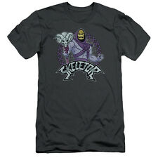 Masters Of The Universe Skeletor Mens Slim Fit Shirt Charcoal