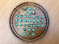Beautiful Wooden Solitaire Board Game with marbles - boxed ready to wrap