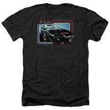 Knight Rider Kitt Mens Heather Shirt Black