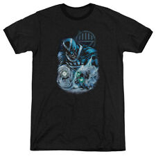 Green Lantern Blackhand Mens Adult Heather Ringer Shirt Black